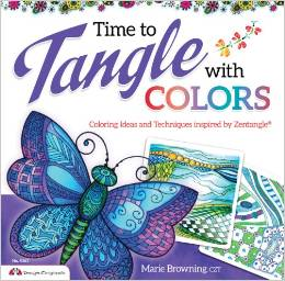 Livre time to tangle de marie browning