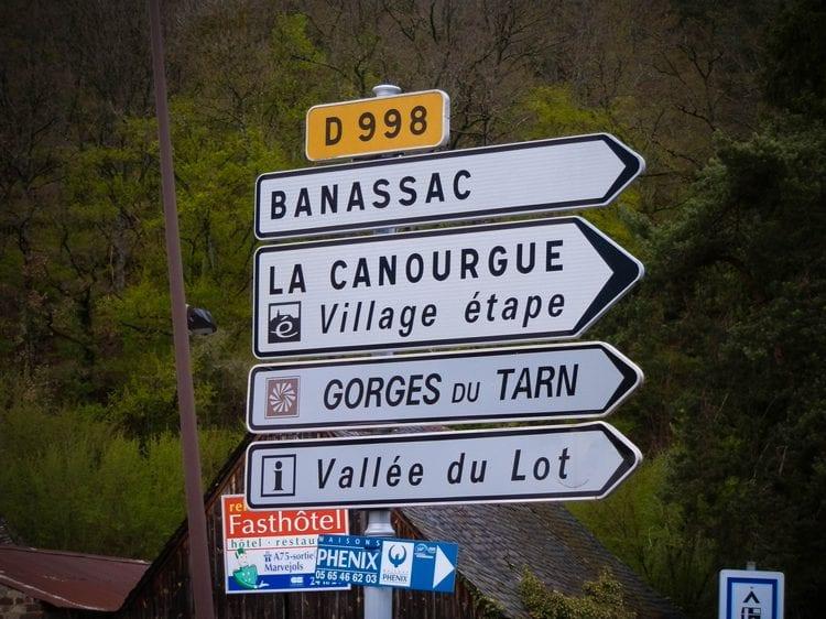 direction La Canourgue