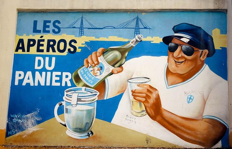 Street art panier Marseille apéro
