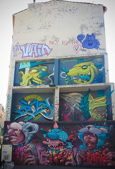 art urbain immeuble Marseille