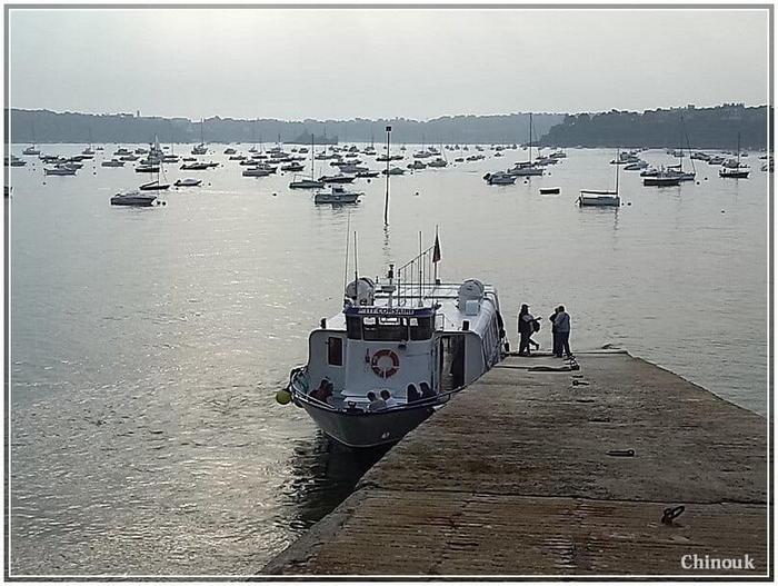 l'embacadere sur la rance à Dinard pour rejoindre Saintt Malo
