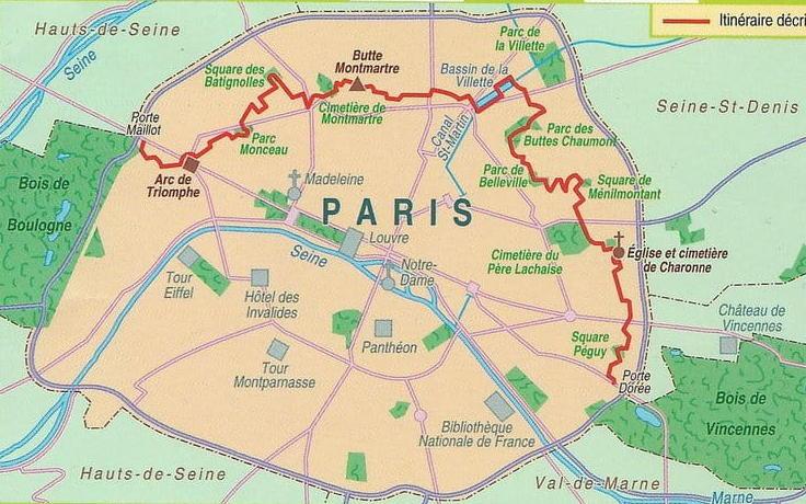 carte randonnée paris